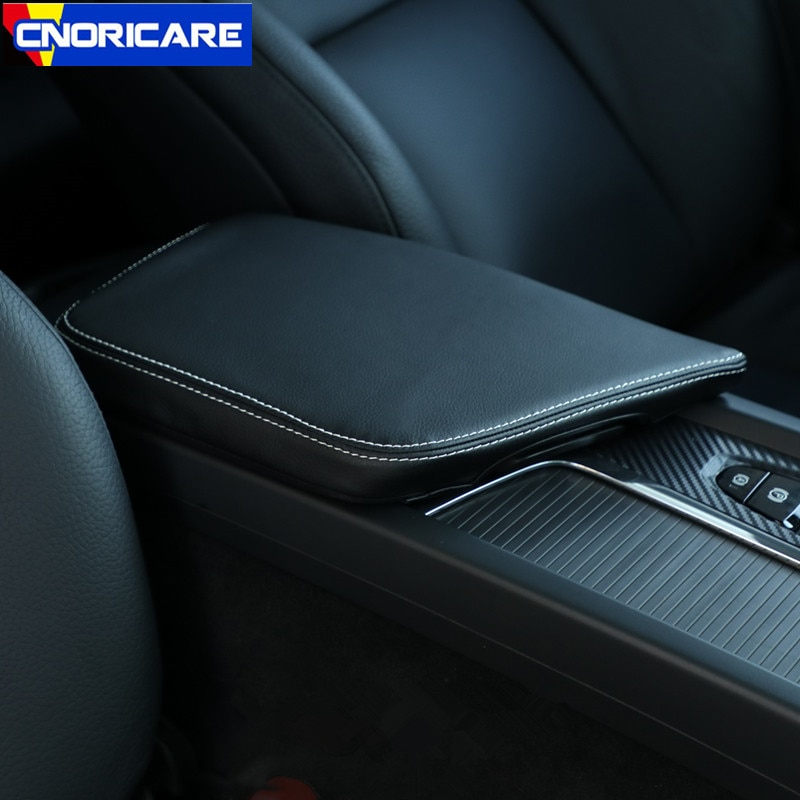 Cubierta decorativa de la manga de la protección de la caja del apoyabrazos de la consola central del coche para Volvo XC60 2018 LHD accesorios interiores modificados