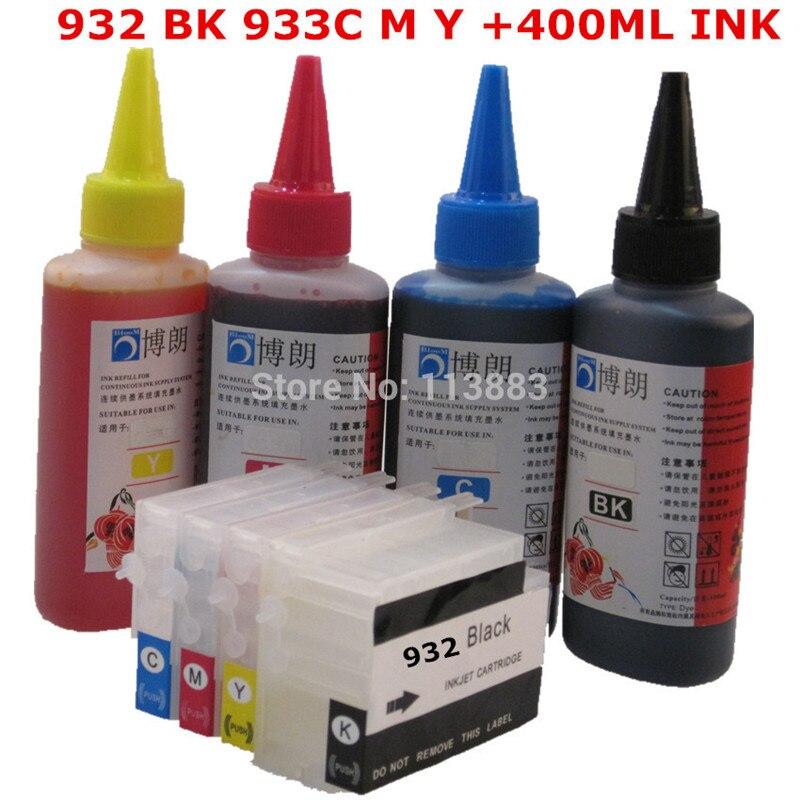 مجموعة إعادة تعبئة الحبر لطابعة hp ، خرطوشة حبر قابلة لإعادة الملء لـ HP 932 ، 933 ، 6100 ، 6600 ، 6700 ، 6100e ، 6600e ، Dey ink ، 7110
