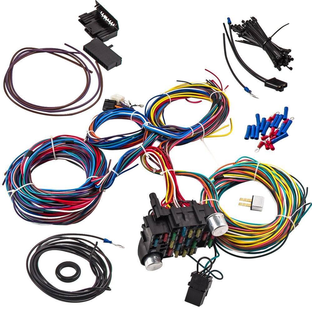 21 cablagens de circuito kit fio universal haste quente para chevy universal ford cablagens 21 circuito rua haste quente universal