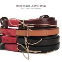Handmade Genuine Leather Superior Cowhide DSLR Neck Shoulder Camera Sling Belt Strap for Canon Nikon Sony Pentax Fuji Panasonic