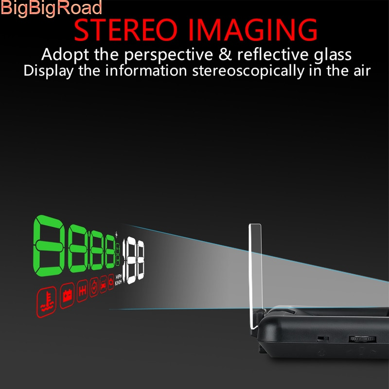 BigBigRoad, proyector de parabrisas para coche, ordenador integrado, pantalla HUD Head Up, OBD 2 EUOBD Para Jaguar, tipo F, XE, XF, XJ, tipo S, f-pace
