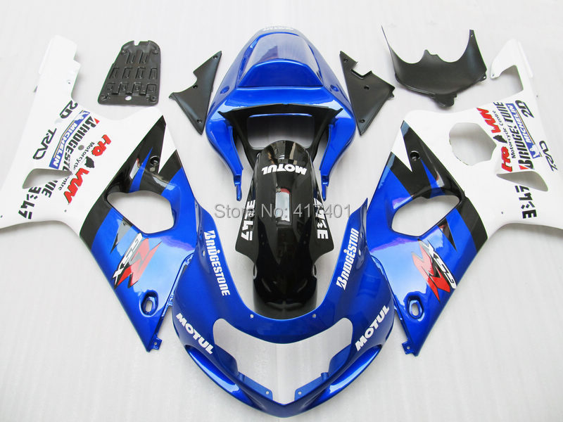 7 presentes Azul Branco Carenagem Kit Para SUZUKI GSX-R1000 GSXR1000 GSX R1000 GSXR 1000 K2 K1 00 01 02 2000 2001 2002 Carenagens