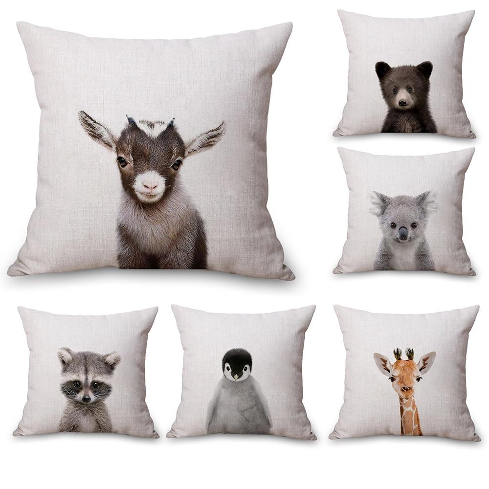 Наволочка для тела с изображением кролика, медведя, тигра, оленя, панды, шеи, постельное белье, подушки для путешествий, Наволочка на диване, подушка, подушка, домашний декор, подарок