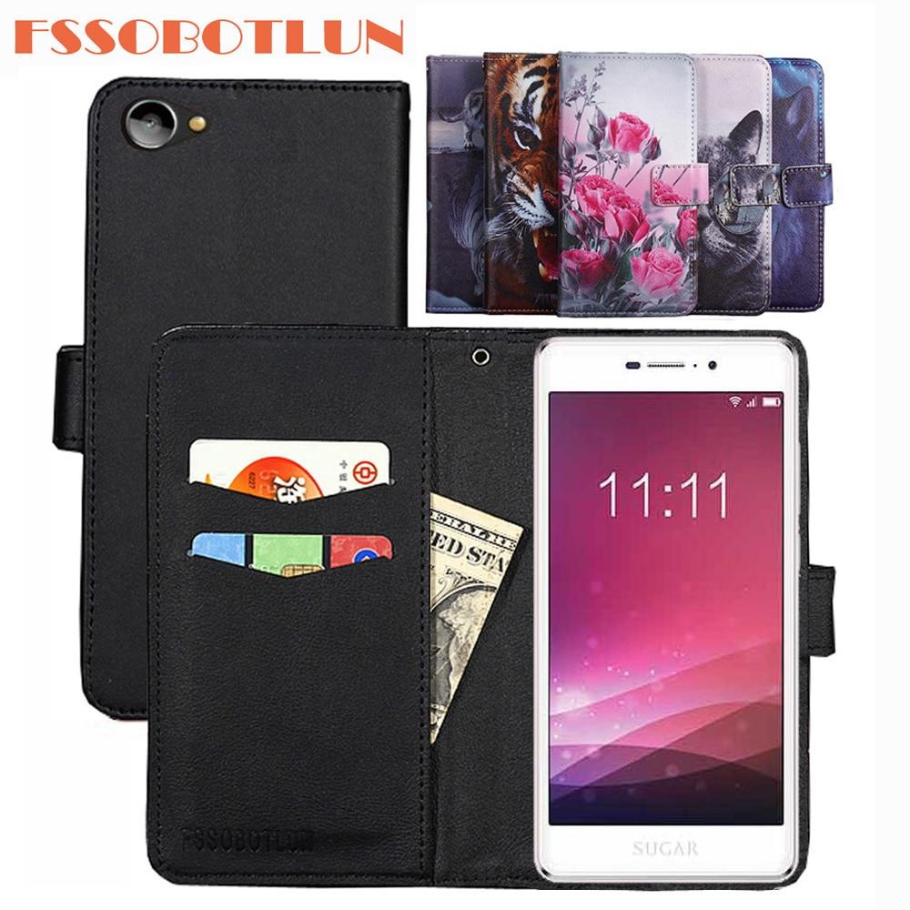 FSSOBOTLUN 9 Colors For Sugar Y7 Case PU Leather Retro Flip Cover Shell Magnetic Fashion Wallet Case