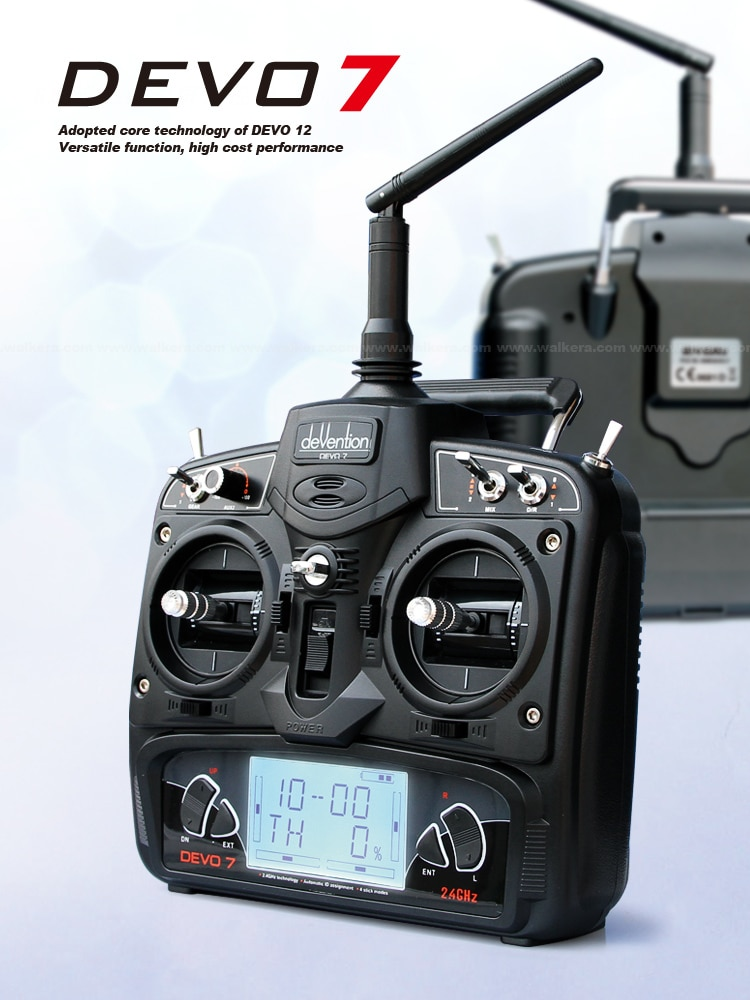 Walkera DEVO 7 7-Ch 2.4Ghz Telemetry Function Radio System Not include Receiver