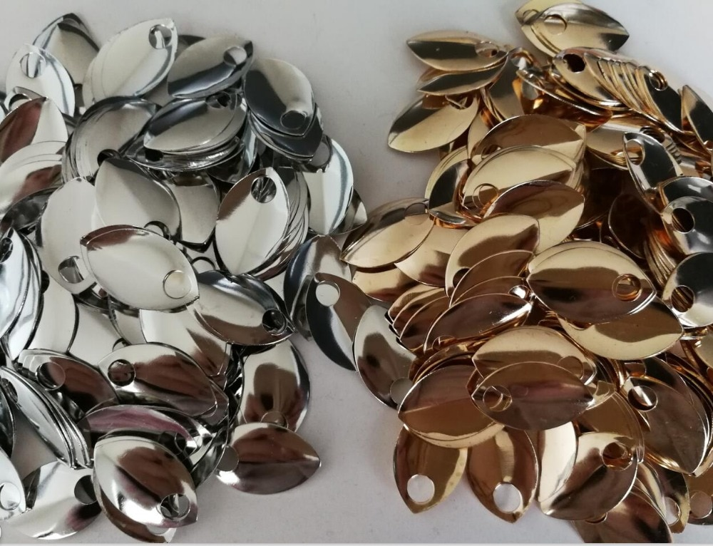 New Styles Fish Scales Pieces Jewelry Findings & Components 100pcs Scales Silver or Gold Colors