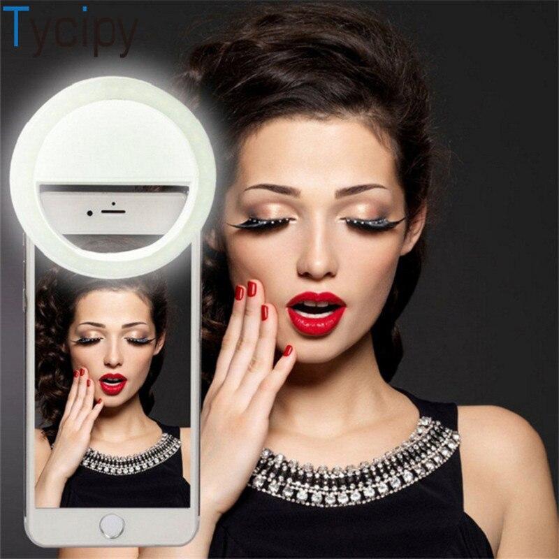 Tycipy селфи кольцо свет перезаряжаемый клип на 36 LED 3-уровневый Регулируемый телефон камера свет для iPhone X 8 Plus Android Tablet