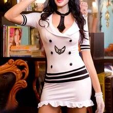 Hohe Qualität Sexy Dessous Sexy Stewardess Polizei Frauen Begrenzung Uniform Sexy Weiße Uniform Erotische Dessous