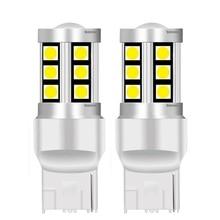 2PCS Kleine Größe T20 7440 W21W WY21W 15 SMD 3030 LED Auto Blinker Reserve Lampen Motor Brems Lampen DRL Lichter Rot Weiß Gelb