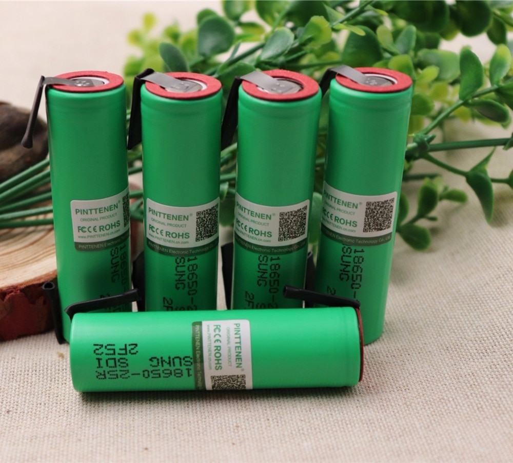 2/4/6/10 Uds 100% Original para Samsung 18650 batería 2500mah INR18650 25R 20A descarga de baterías de litio