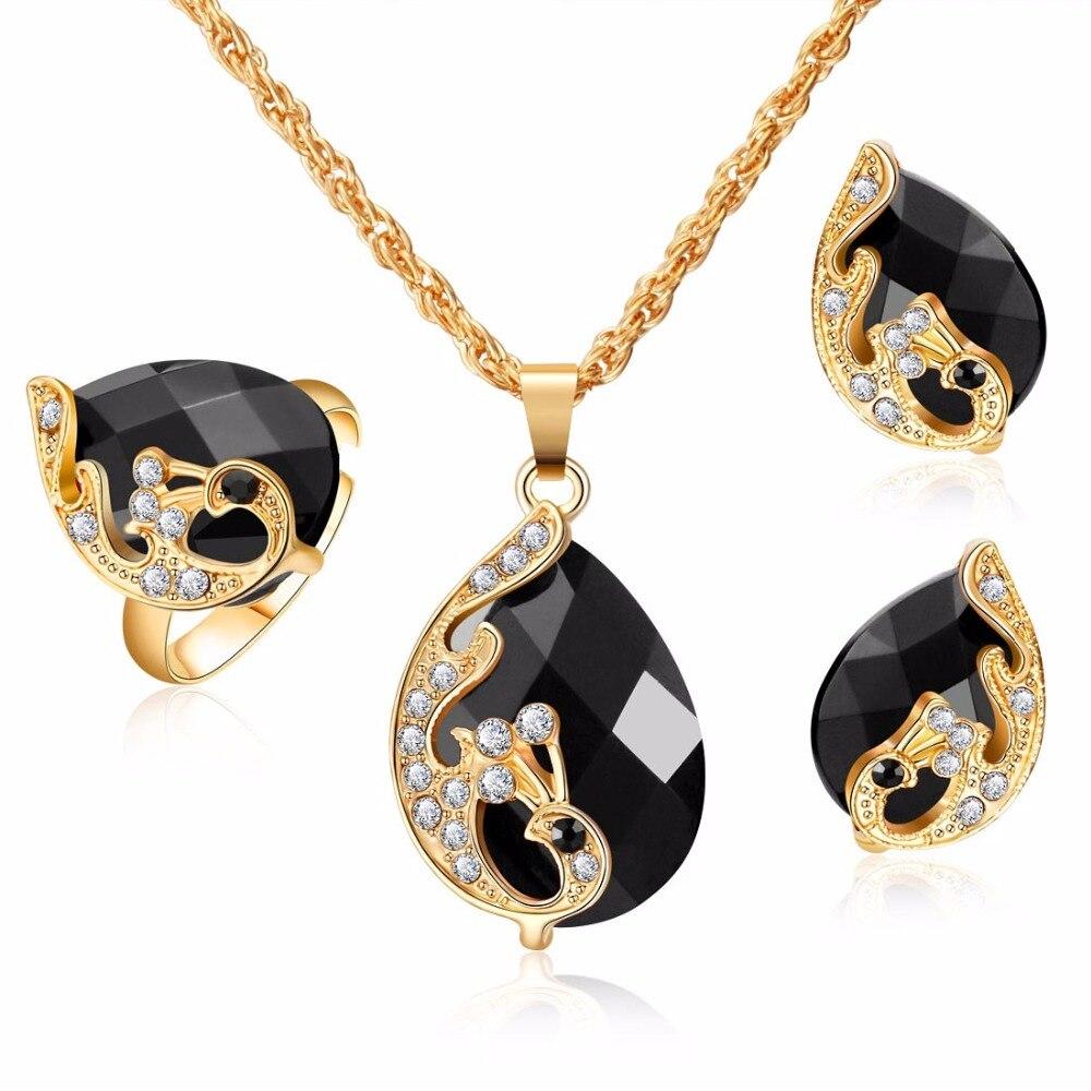 Женский набор ювелирных изделий, элегантные серьги-кольца с павлином и цирконием золотого цвета