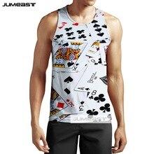 Jumeast nueva moda 3d impreso gracioso Poker hombres/mujeres Tank Tops interesante patrón de llama Tee Unisex camiseta sin mangas