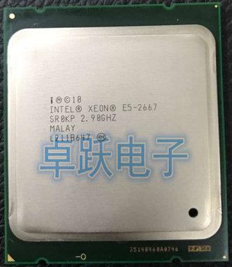 Original Intel Xeon E5 2667 de 2,9 GHz 6 núcleos 15M 8GT/s LGA2011 130W Server procesador SR0KP procesador CPU envío gratis