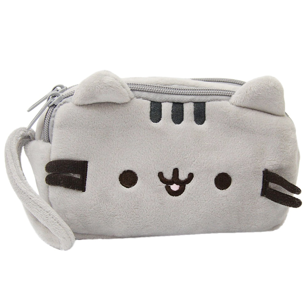 Lindo gato estuche lápices dibujos bolsa bonita pluma de peluche bolsa de maquillaje de gran capacidad bolsa de cosméticos bolsa de regalo de papelería infantil bolso de mano