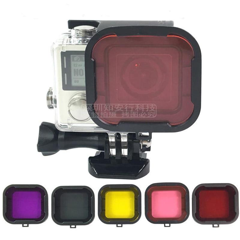 Go pro Hero 4 3+ Accessories Dive Filter Underwater Diving Lens Filtro for GoPro Hero4 Hero3+ Hero3 Sport Action Camera Filters