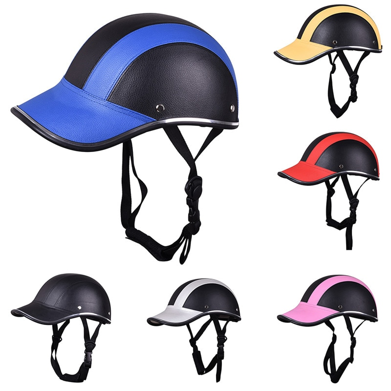 Мотоциклетный полулицевой шлем, полуоткрытый велосипедный шлем для езды на велосипеде, защитный АБС-кожа, бейсбольная кепка, двигатель уни...