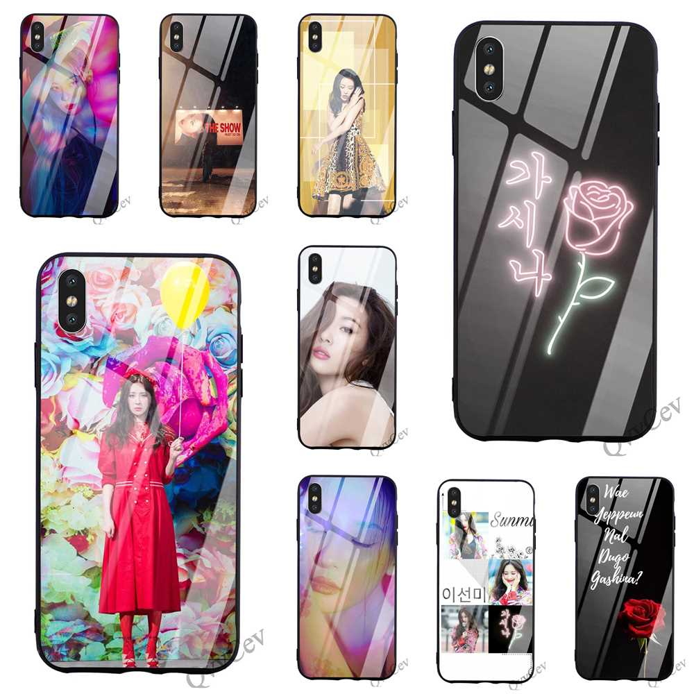 Funda de teléfono de vidrio templado Lee Sun Mi Sunmi kpop para iPhone 6, carcasa de 7 X R X 8 Plus 5 6S 5S SE Xs Max 11 pro, carcasa trasera