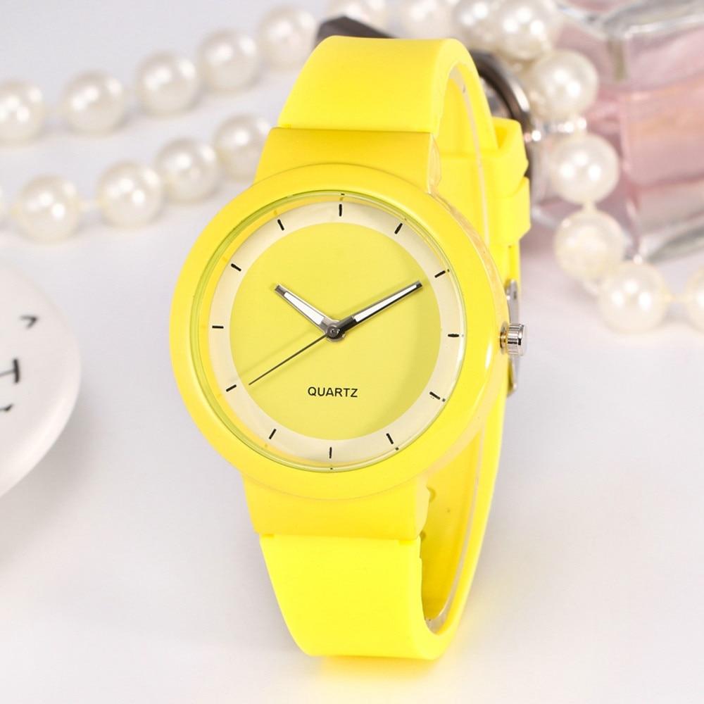 2020 New Woman Fashion Casual Silicone Strap Analog Quartz Round Watch relogio feminino Simple Round horloges Ladies Watches B40