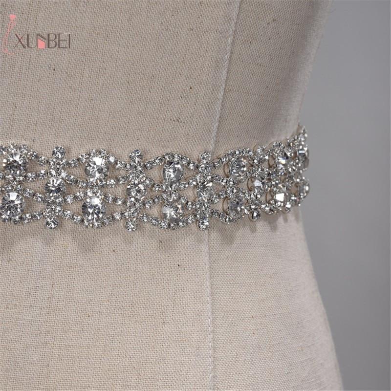 Handmade Rhinestone Belt Crystal Wedding Dress Belt Bridal Belt Sash Waist Belt Satin Ribbon Gold Silver Wedding Accessories New