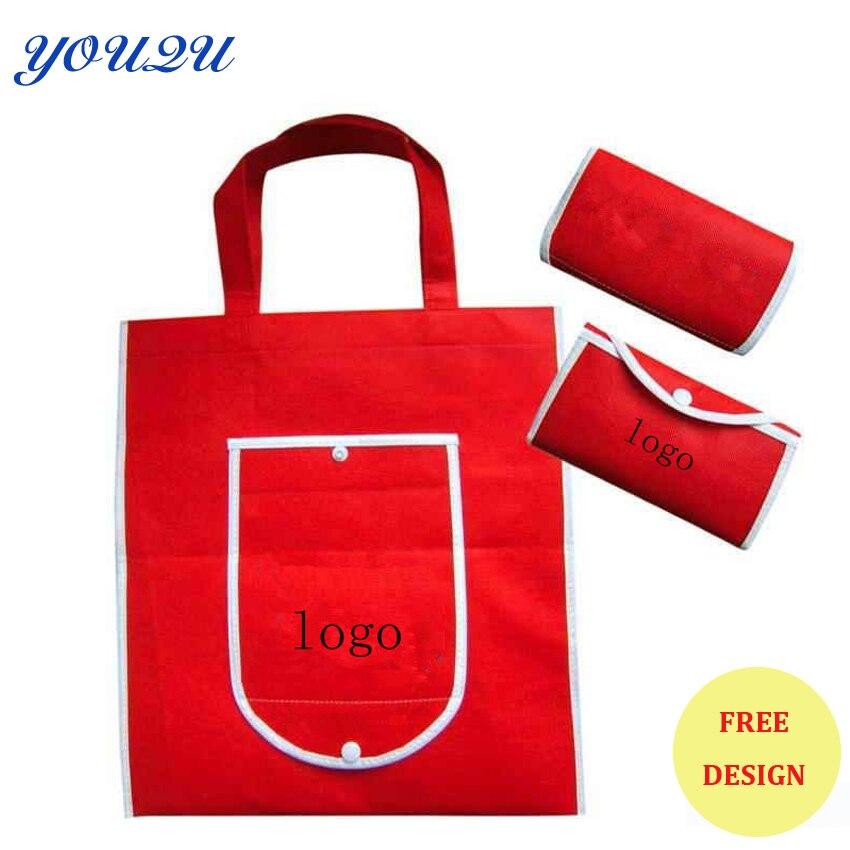 Foldable bag, folding shopping bag, non woven fold bag with logo+ Low price+escrow accept