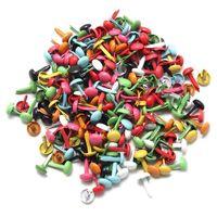 200x Mini Parisian fasteners multicolor Screws Nail Rivets Photo paper DIY craft Scrapbooking 4.5mm Solid Rivets tool parts
