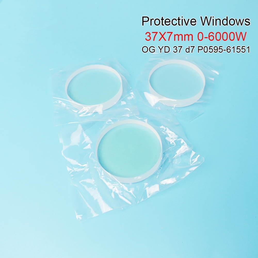 Ventanas protectoras láser de fibra y cerámica Precitec OG YD37 d7 37*7mm P0595-58601 0-6000W para la cabeza de distribuidor precitec Ermaksan