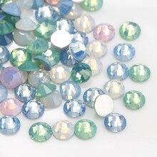 1400 pièces mélange couleur opale SS3-SS12 dos plat Non Hotfix strass verre cristal ongles décorations couleur classique