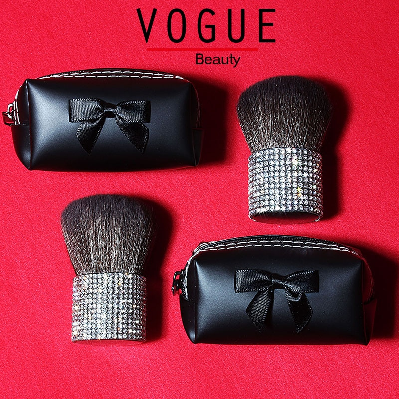 Bling Diamant Make-Up pinsel mit halter ziegenhaar Einhorn Strass Tragbare Kabuki Pulver Make-up Pinsel 1 stücke Erröten Blending