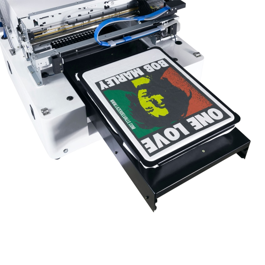 CERTIFICADO CE color oscuro camiseta impresora poliéster, tela máquina de impresión Rip software incluido