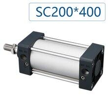 SC200*400 Standard pneumatic cylinder aluminum bore 200mm stroke 400mm SC200x400 cylinder, Optional magnet