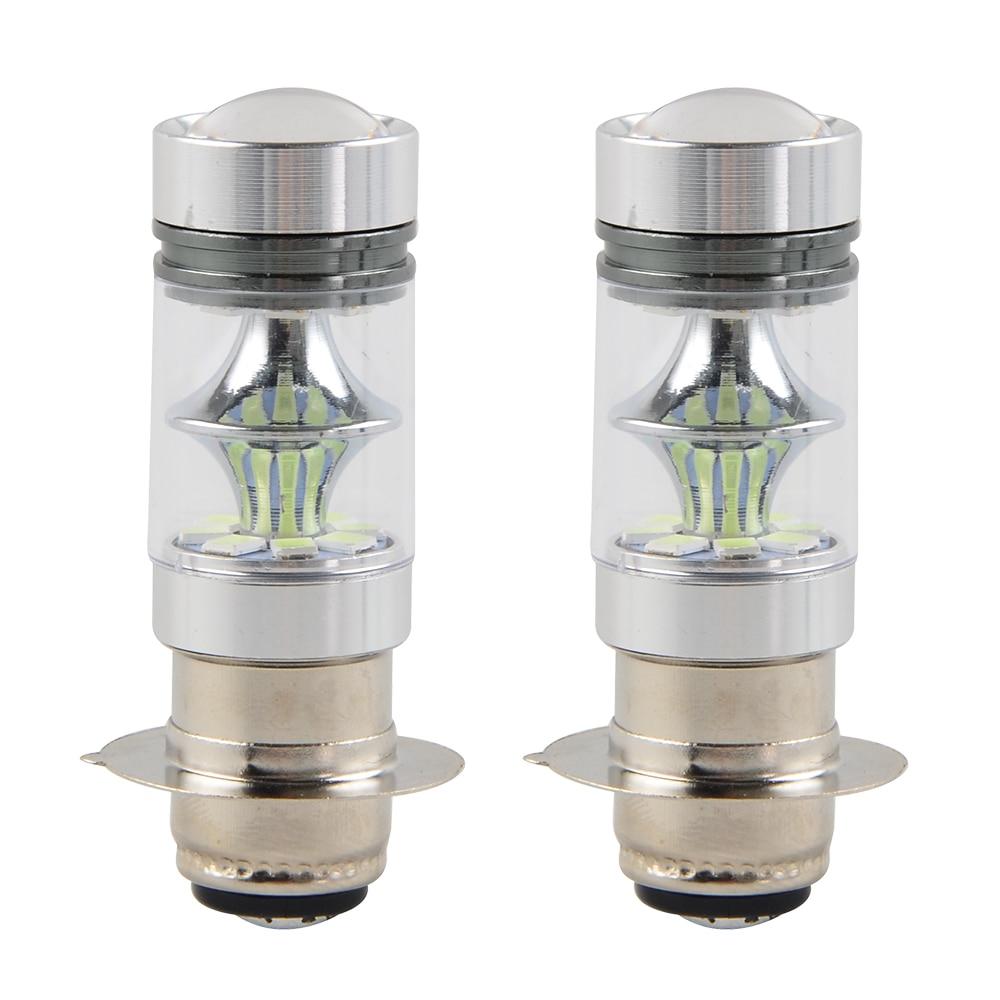 NICECNC 100W 8000K LED Bulb Headlight Lamp For Yamaha ATV YFM 125 250 350 400 450 600 660 700 Big Bear Wolverine Grizzly Raptor