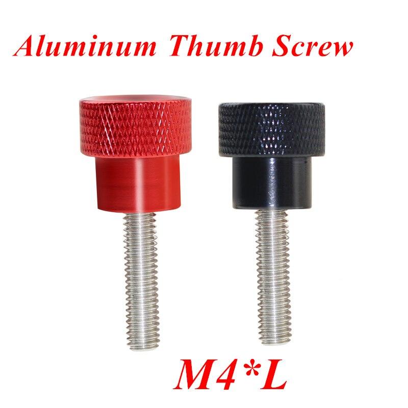 Tornillo de mano M4 10 Uds., tornillo moleteado de aluminio para bloqueo de llama de aire, cabeza de aleación de aluminio, tornillo de mano de acero inoxidable