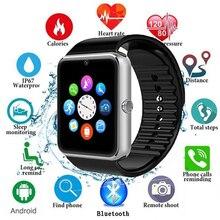 Mode GT08 Smartwatch Männer Frauen Für Huawei Smart Uhr Für Iphone Relogio Telefon Rufen Große Batterie SD Karte Touch-Screen