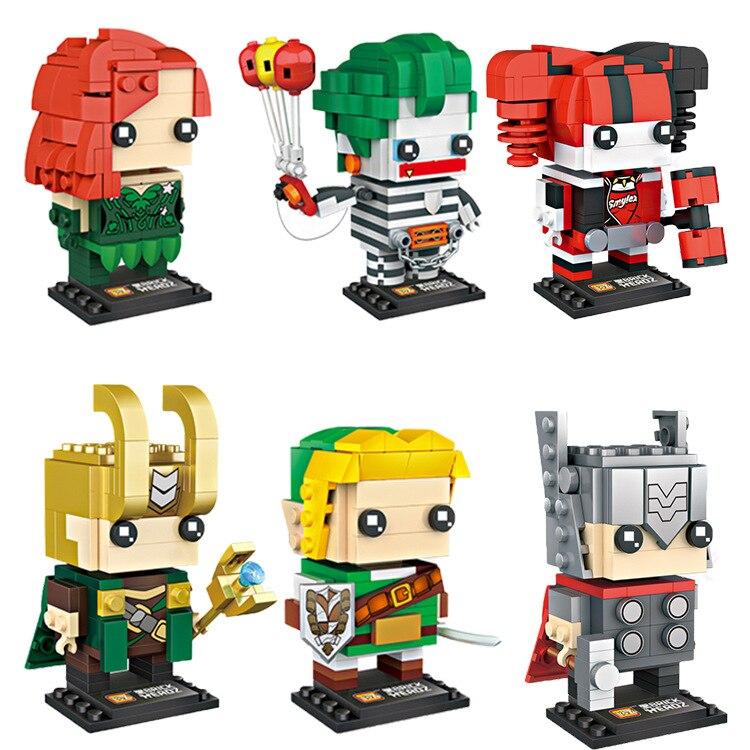 Mini Qute LOZ Viuda Negra Capitán América Robin bloques de construcción de plástico figuras de acción, juguete educativo