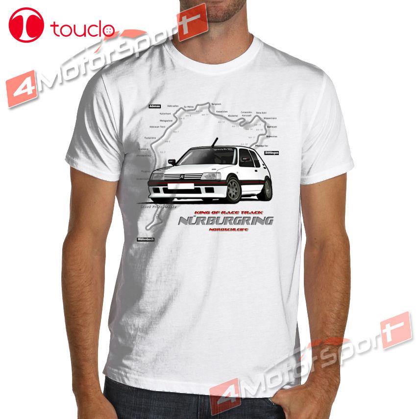2019 Moda Tee Cool Shirt Francês Fãs 205 Gti Carro Rally Racings T-Shirt Personalizado T-Shirt Da Camisola