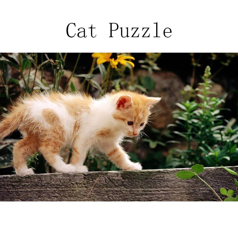 DDWE 1000 Pieces Kid Tiere Haustier Katze Holz Jigsaw Puzzle Set Baby Spielzeug Pädagogisches Spielzeug für kinder tag Geschenk können Foto Nach