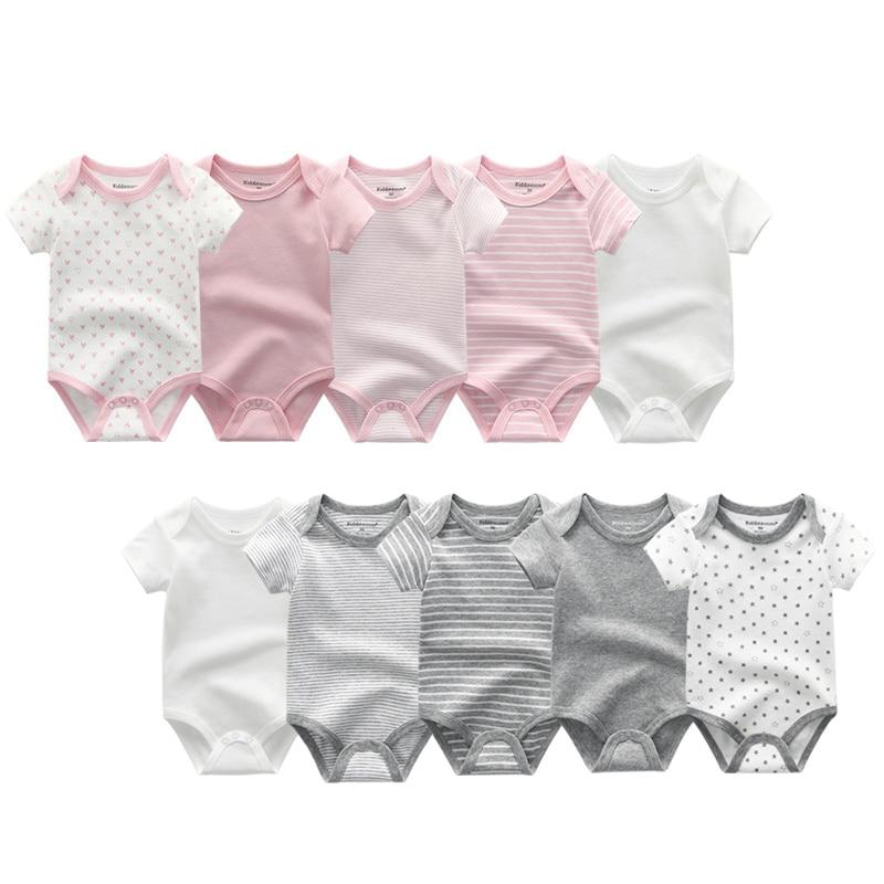 5 piezas combinación verano bebé mameluco niños y niñas 100% mono de algodón para bebé recién nacido 0-12M ropa de bebé
