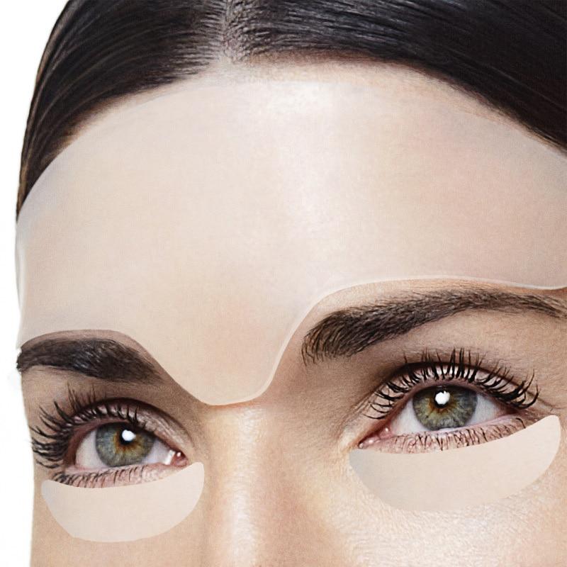 Anti enrugamento olho rosto almofada reutilizável de grau médico silicone invisível almofada de peito anti-envelhecimento eliminar e evitar rugas de rosto