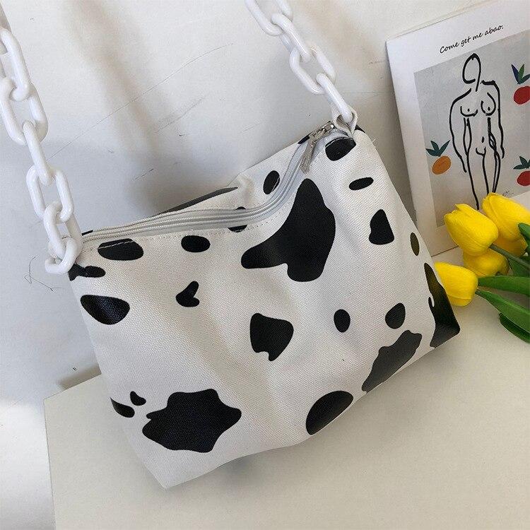 2019 nuevo estampado de vaca moda ins locomotora bolsa amantes de la nueva versión coreana bandolera de hombro casual