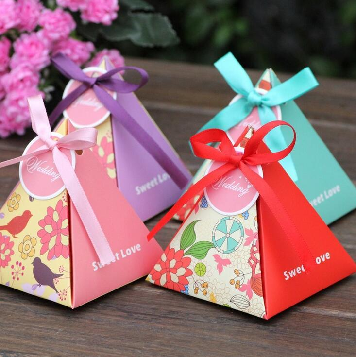 Tamaño S pájaro flor chocolate caramelo caja de regalo de papel para boda, cumpleaños, Té fiesta favor decoración DHL fedex EMS