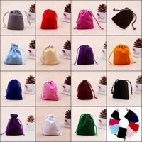 stock 5000pcs 7x9cm drawable velvet bags small jewelry gift bags pouch jewelry candy wedding christmas party favor bags