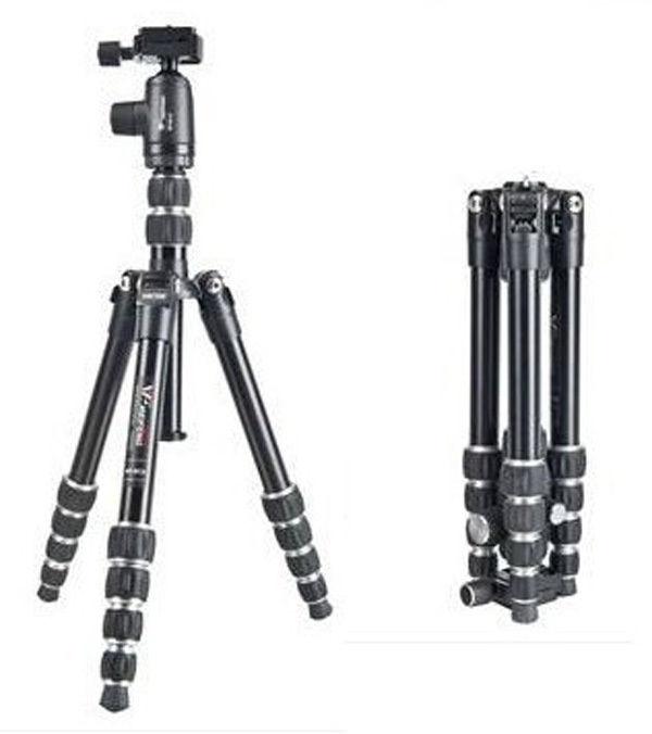 Fancer weifeng viaje profesional WF-861 trípode de cámara de vídeo + cabeza de bola + bolsa