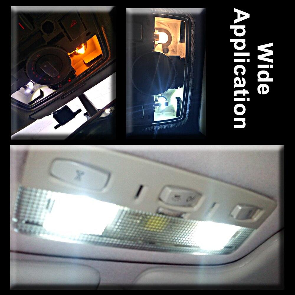 1 Uds auto liquidación coche con luces bombilla de lectura de estacionamiento lámpara Domo matrícula DC 12V T4W BA9S 6 led 5630 smd