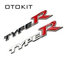 Autocollant de Type R Typer en alliage métallique 3D   Autocollant pour Honda City en alliage métallique avec Accord Jazz Crider Greiz CIVIC Spirior