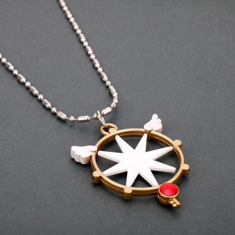 MQCHUN аниме карта Captor Cardcaptor Sakura KINOMOTO SAKURA Key волшебная палочка со звездой металлический кристалл косплей подвески с шармами, ожерелья