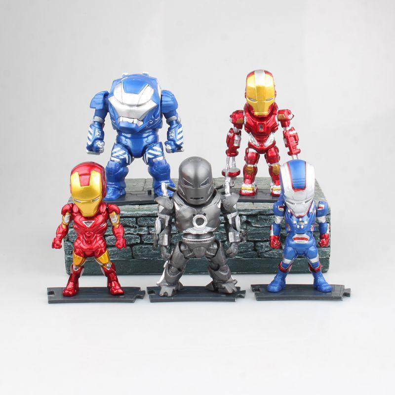 9,5-10 cm Anime figura 5 unids/lote La avanger MK1 MK35 hulkbuster de Iron Man figura de acción juguetes de modelos coleccionables para niños