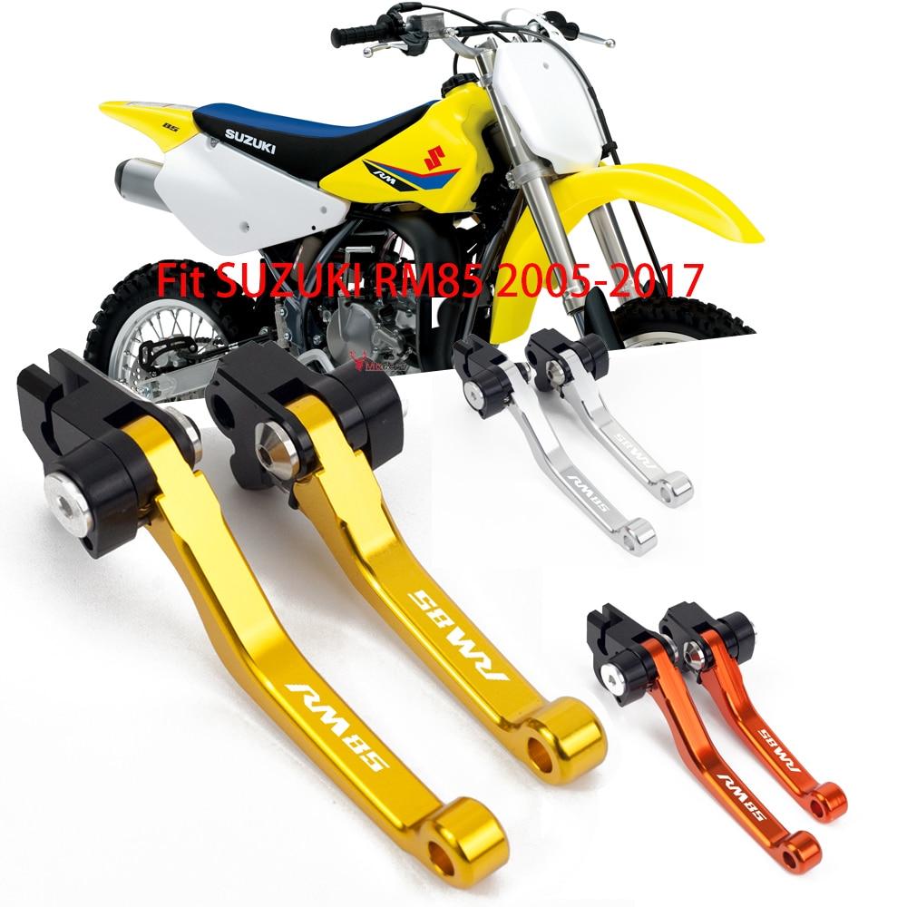 Motorcycle CNC Pivot Brake Clutch Lever Dirt Bike Motocross handlebar Levers For Suzuki RM85 RM 85 2005-2014 2015 2016 2017