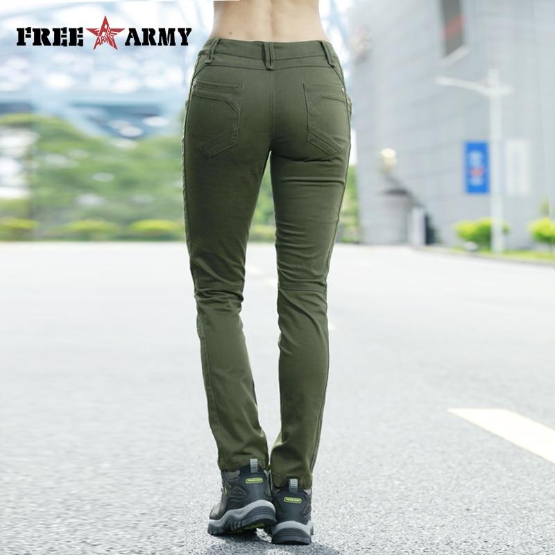 Pantalones vaqueros verdes militares de otoño para mujer, Pantalones largos con figura de Good Figure, pantalones informales para mujer, Pantalones de mujer de invierno