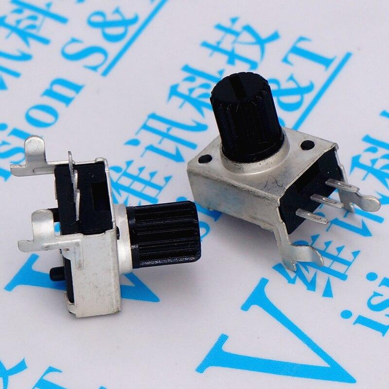 5 uds tipo 09 RV09 horizontal corta lado B503 de 50K 0932 WH09 potenciómetro volumen