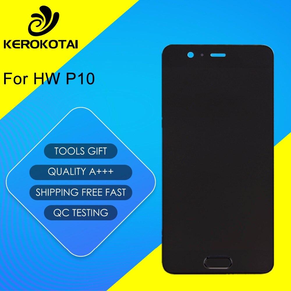Para HW P10 100% Testado Boa Qualidade Display LCD Touch Screen Digitador Assembléia Completa P10 Montagem LCD